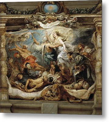 Triumph Of The Catholic Truth Metal Print by Peter Paul Rubens