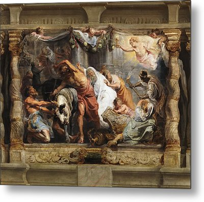 Triumph Of The Eucharist Over Idolatry Metal Print by Peter Paul Rubens