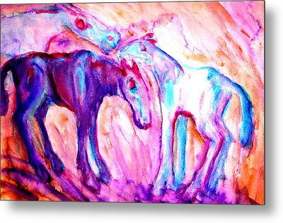 We Are A Family And We Will Not Split Up  Metal Print by Hilde Widerberg