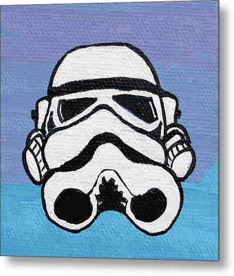 Trooper On Purple Metal Print by Jera Sky