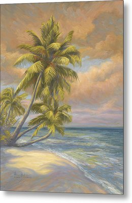 Tropical Beach Metal Print by Lucie Bilodeau