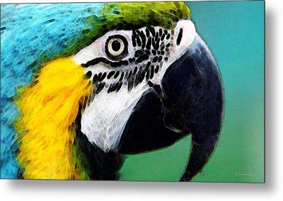 Tropical Bird - Colorful Macaw Metal Print by Sharon Cummings