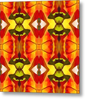 Tropical Leaf Pattern 7 Metal Print by Amy Vangsgard