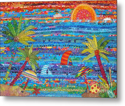 Tropical Moments Metal Print by Susan Rienzo