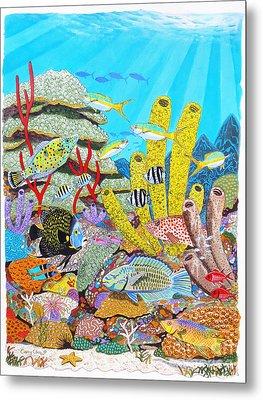 Tropical Reef Metal Print by Carey Chen