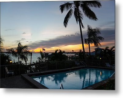 Tropical Sunrise Metal Print by Margaret Pitcher