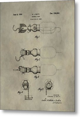 Trouble Light Patent Metal Print by Dan Sproul