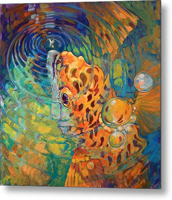 Trout Rise Metal Print by Savlen Art
