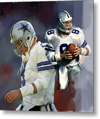 Troy Aikman  Aikam Metal Print by Iconic Images Art Gallery David Pucciarelli