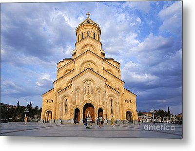 Tsminda Sameba Cathedral Tbilisi Metal Print by Robert Preston