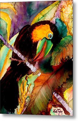 Tu Can Toucan Metal Print by Lil Taylor