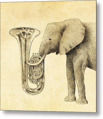 Tuba Metal Print by Eric Fan