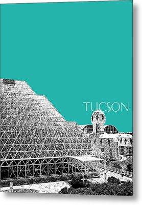 Tucson Biosphere 2 - Teal Metal Print by DB Artist