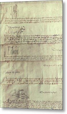 Tudor Monarchs Metal Print by Granger