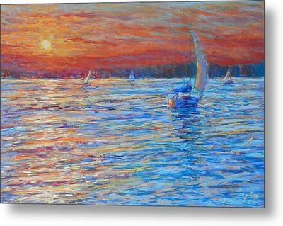 Tuesday's End Metal Print by Michael Camp