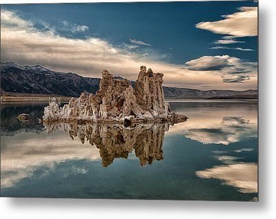 Tufa Reflections Metal Print by Cat Connor