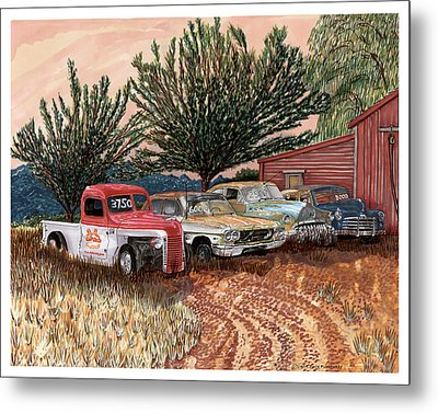 Tularosa Motors Metal Print by Jack Pumphrey
