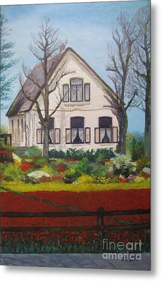 Tulip Cottage Metal Print by Martin Howard