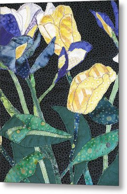 Tulips And Irises Detail Metal Print by Lynda K Boardman