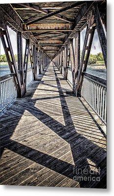 Tulsa Pedestrian Bridge Metal Print by Tamyra Ayles
