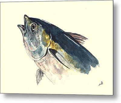 Tuna Fish Metal Print by Juan  Bosco