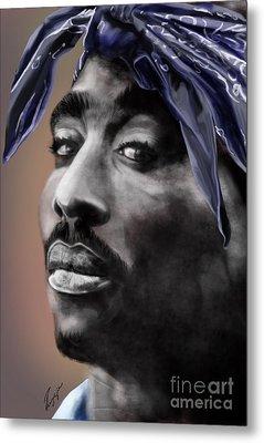 Tupac - The Tip Of The Iceberg  Metal Print by Reggie Duffie