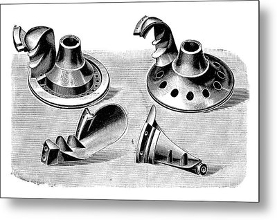 Turbine Parts Metal Print by Science Photo Library
