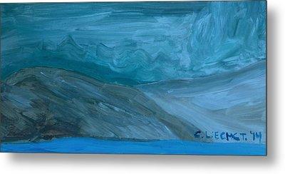 Turbulent Skies And A Glacier  Metal Print by Carolina Liechtenstein