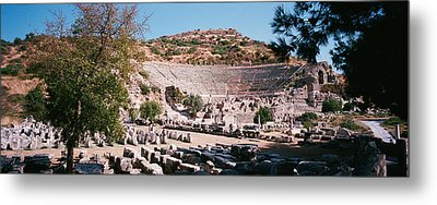 Turkey, Ephesus, Main Theater Ruins Metal Print by Panoramic Images