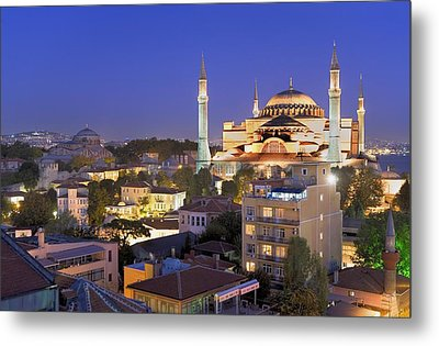 Turkey. Istanbul. Hagia Sophia Basilica Metal Print by Everett