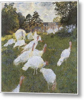 Turkeys Metal Print by Claude Monet