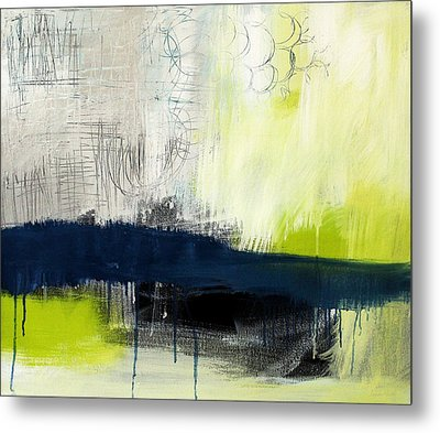 Turning Point - Contemporary Abstract Painting Metal Print by Linda Woods