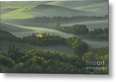 Tuscan Daybreak Metal Print by Michael Swanson