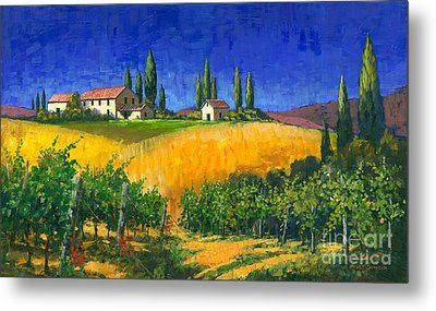 Tuscan Evening Metal Print by Michael Swanson