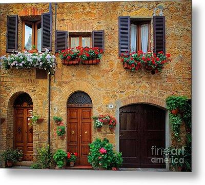 Tuscan Homes Metal Print by Inge Johnsson