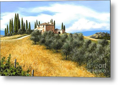 Tuscan Sentinels Metal Print by Michael Swanson