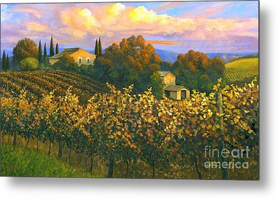 Tuscan Sunset 36 X 60 - Sold Metal Print by Michael Swanson