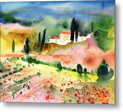 Tuscany Landscape 02 Metal Print by Miki De Goodaboom