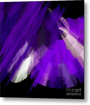 Tutu Stage Left Abstract Purple Metal Print by Andee Design