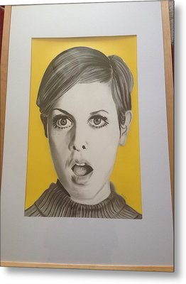 Twiggy Metal Print by Martin Burton