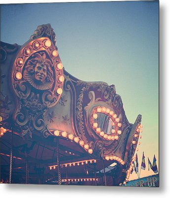 Twilight Carnival Ride Metal Print by Joy StClaire
