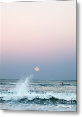 Twilight In Rose Metal Print by Michelle Wiarda