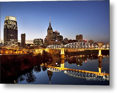 Twilight Over Nashville Tennessee Metal Print by Brian Jannsen