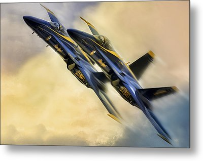Twin Angels Metal Print by Peter Chilelli