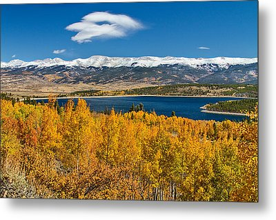 Twin Lakes Colorado Autumn Snow Dusted Mountains Metal Print by James BO  Insogna