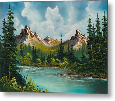 Twin Peaks River Metal Print by C Steele