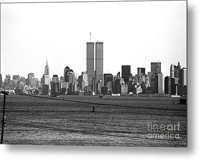 Twin Towers From Staten Island Metal Print by John Rizzuto