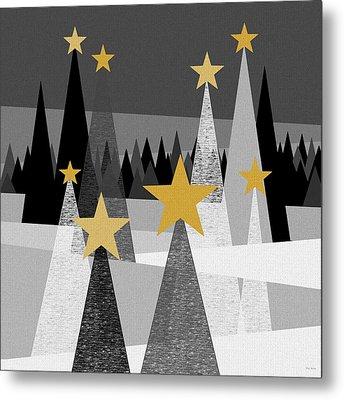 Twinkle Lights Metal Print by Val Arie