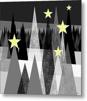 Twinkle Night Metal Print by Val Arie