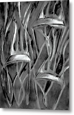 Twisted Chairs Metal Print by John Grace